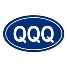 QQQ Oval Decal