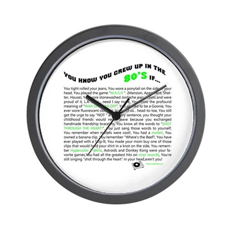 You know you grew up in the 80's if... Wall Clock