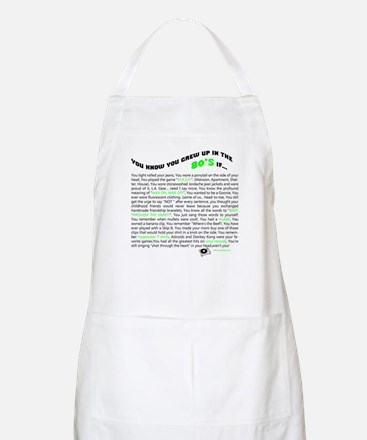 You know you grew up in the 80's if... BBQ Apron