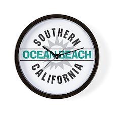 Ocean Beach California Wall Clock