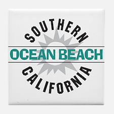 Ocean Beach California Tile Coaster