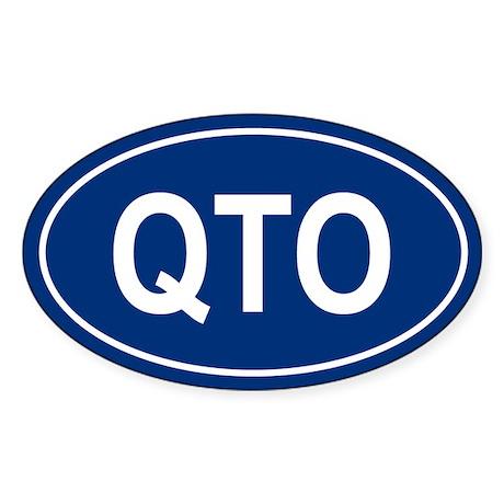 QTO Oval Sticker