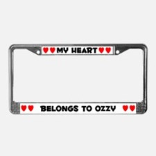 My Heart: Ozzy (#004) License Plate Frame
