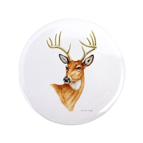"Whitetail Deer ~ 3.5"" Button (100 pack)"