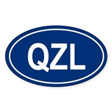 QZL Oval Decal