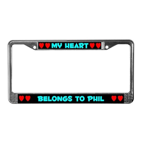 My Heart: Phil (#003) License Plate Frame