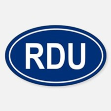 RDU Oval Decal