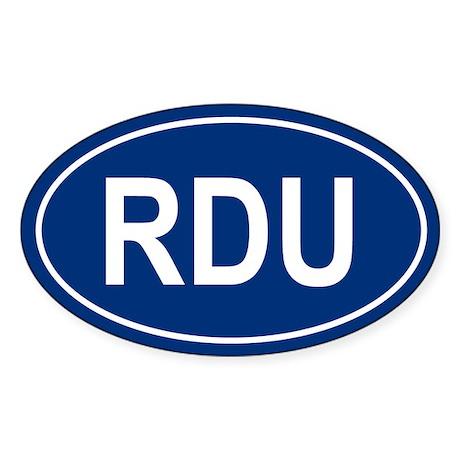 RDU Oval Sticker