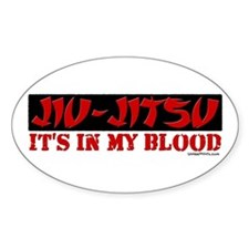 JIU-JITSU (IT'S IN MY BLOOD) Oval Decal