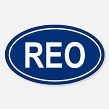 REO Oval Decal