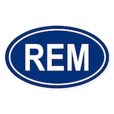REM Oval Bumper Stickers