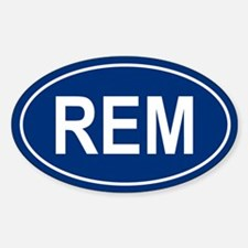REM Oval Decal