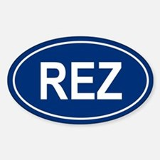 REZ Oval Decal
