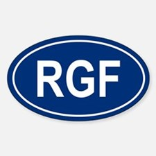 RGF Oval Bumper Stickers