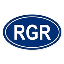 RGR Oval Bumper Stickers
