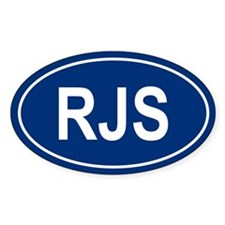 RJS Oval Decal