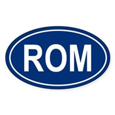 ROM Oval Decal