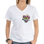 Lavender w/ Gold Daylily Women's V-Neck T-Shirt