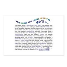 YOU KNOW YOU GREW UP IN THE 90'S IF.. Postcards (P