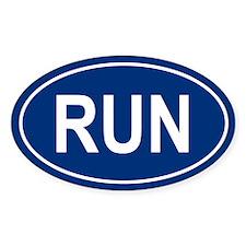 RUN Oval Bumper Stickers