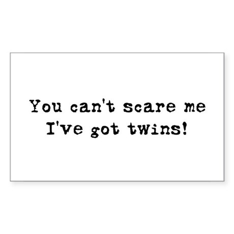 Can't Scare Rectangle Sticker