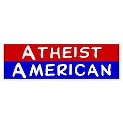 Atheist American Bumper Bumper Sticker