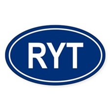 RYT Oval Bumper Stickers