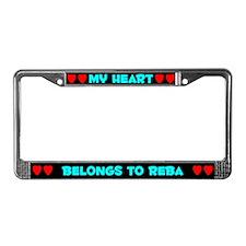My Heart: Reba (#003) License Plate Frame