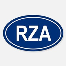 RZA Oval Decal