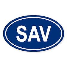 SAV Oval Decal