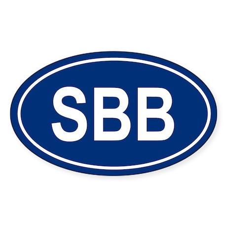 SBB Oval Sticker