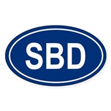 SBD Oval Decal