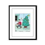 Water Me Christmas Tree Framed Panel Print