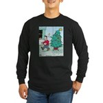 Water Me Christmas Tree Long Sleeve Dark T-Shirt