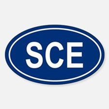 SCE Oval Decal