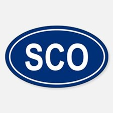 SCO Oval Decal