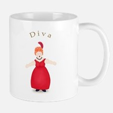 Redhead Diva in Red Dress Mug