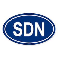 SDN Oval Bumper Stickers
