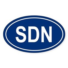 SDN Oval Decal
