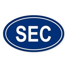 SEC Oval Bumper Stickers