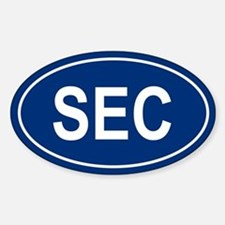 SEC Oval Decal