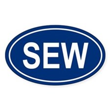 SEW Oval Decal