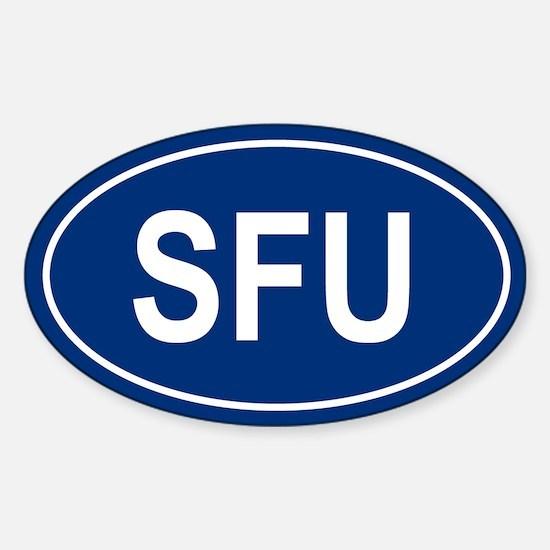 SFU Oval Decal