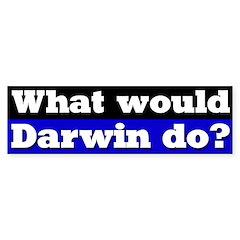 What Would Darwin Do Bumper Bumper Sticker
