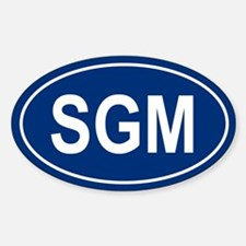 SGM Oval Decal
