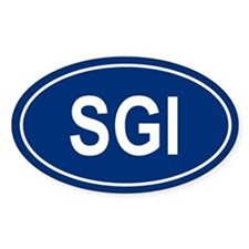 SGI Oval Decal