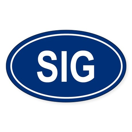 SIG Oval Sticker