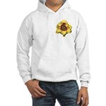 Peach Double Daylily Hooded Sweatshirt