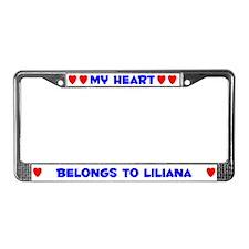 My Heart: Liliana (#005) License Plate Frame