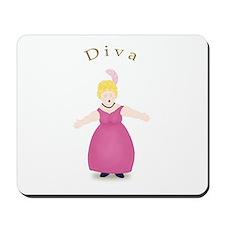 Blond Diva in Rose Dress Mousepad